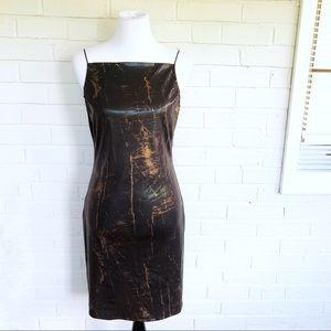 Vintage 90s California Concepts faux snake dress